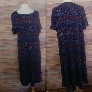 LulaRoe Carly dress 3XL blue purple